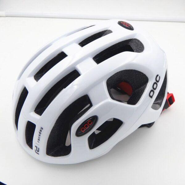Casco de ciclismo para hombres mujeres EPS blanco