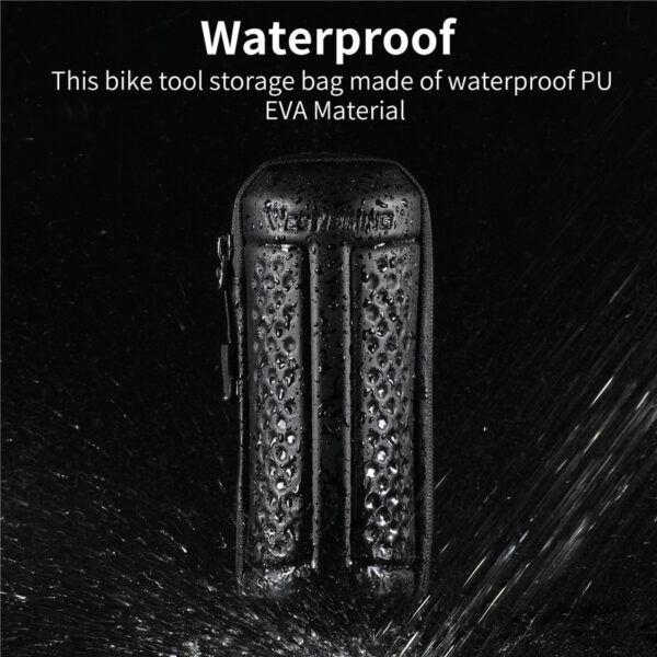 Kit de herramientas de reparación de bicicletas WEST BIKING, inflador de neumático portátil con bolsa de botella de almacenamiento