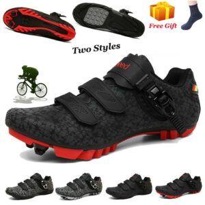 Zapatillas de ciclismo MTB antideslizantes para hombre y mujer, calzado deportivo con sistema de autobloqueo