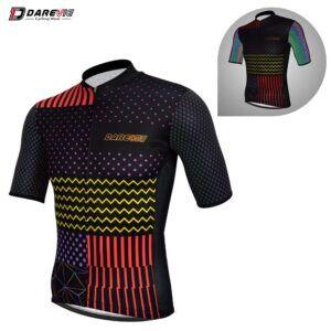 Camiseta de ciclismo DAREVIE Pro, camiseta de ciclismo profesional para hombre, maillot reflectante, camiseta transpirable