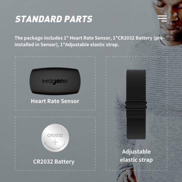 Monitor de frecuencia cardíaca Magene Mover H64 Bluetooth4.0 ANT + Sensor magene con correa para el pecho Computadora Bicicleta Wahoo Garmin BT Banda deportiva