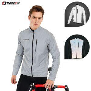 Chaqueta de ciclismo reflectante DAREVIE con mangas extraíbles