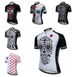 Camiseta de ciclismo Weimostar 2018 pro team Skull Black maillot de ciclismo