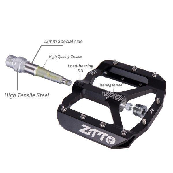 Pedal plano de aleación de aluminio ZTTO JT01 MTB buen agarre ultraligero