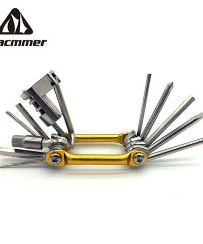 Miniherramientas de reparación de bolsillo Racmmer, juego de 6 abridores hexagonales, 11 en 1, cr-mo, metálico, # PJ-01