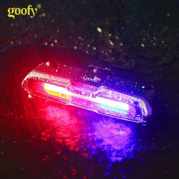 Luz LED de bicicleta trasera de USB recargable e impermeable 5 modos luz trasera de ciclismo