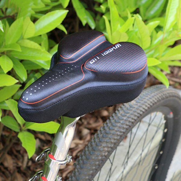 Funda de sillín de bicicleta de GEL 3D de cuero sintético para hombres y mujeres