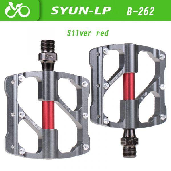 Pedales de bicicleta MTB SYUN-LP con 3 rodamientos de aluminio antideslizante ultraligero de rodamiento sellados