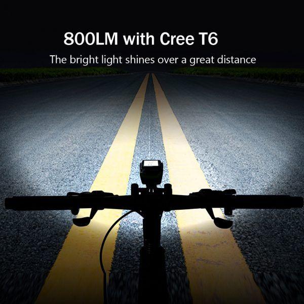 Luz con 4 modos para bicicleta, linterna USB con 3 modos para ciclismo, luces LED delanteras, velocímetro, faro, lámpara, ordenador