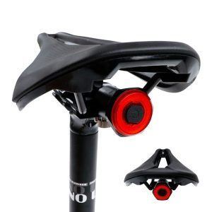 Faro LED inteligente para bicicleta NEWBOLER, para parte trasera, con sensor de arranque/parada, IPX6, para ciclismo, con carga USB
