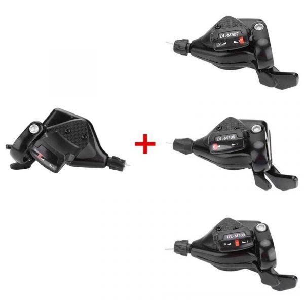 Palancas de cambios para bicicleta, 1 par, 3 × 7/8/9 velocidades, D0LB