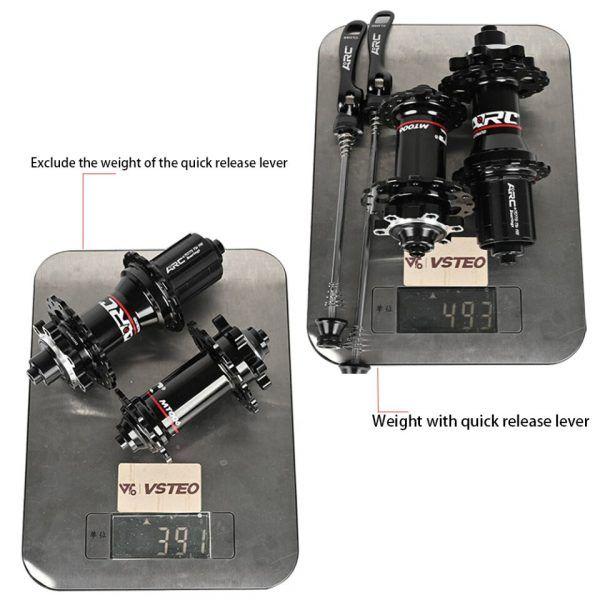 Bujes de bicicleta Rodamiento sellado con liberación rápida 32 28 36 Agujeros Freno de disco QR 4 Rodamientos 4 Trinquetes 399g ARC 006