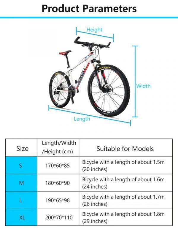 Cubierta protectora para bicicleta Bicicleta tamaño S-XL