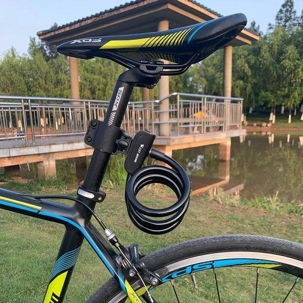 Candado para bicicleta WEST BIKING con soporte de montaje con seguridad antirrobo