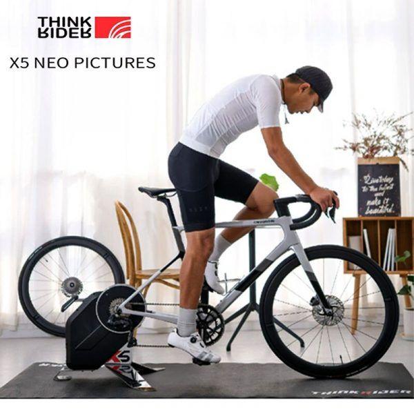 Entrenador de bicicleta inteligente ThinkRider X5, medidor de potencia con Bluetooth, ANT +