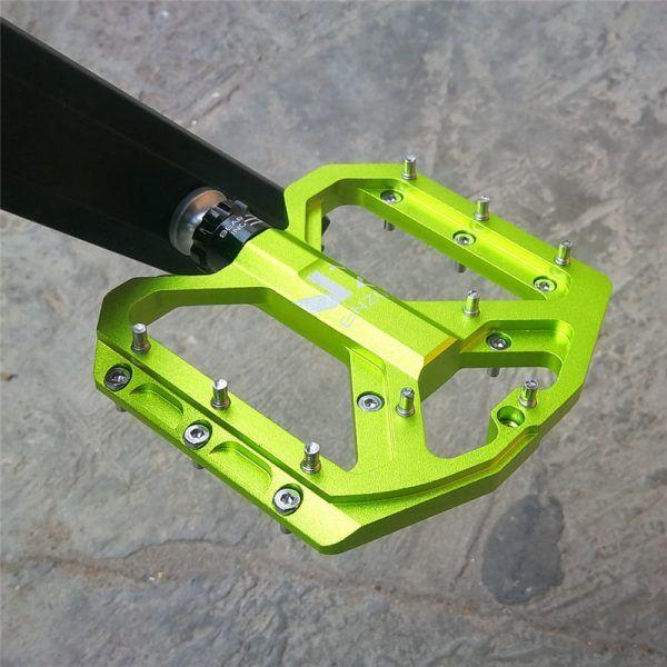 Pedales planos de bicicleta de montaña ultraligeros ENZO aleación de aluminio sellados 3 rodamientos pedales antideslizantes