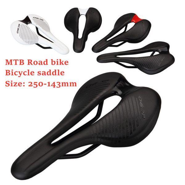 Asiento de bicicleta EC90 sillín ultraligero, transpirable y cómodo