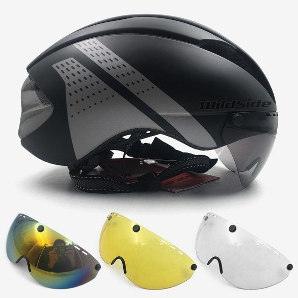Aero casco tt contrarreloj casco de ciclismo para hombres mujeres