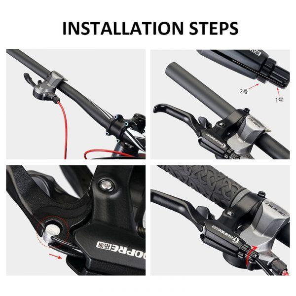 Manillar de freno para bicicleta de montaña 22mm (7-8pulgadas)
