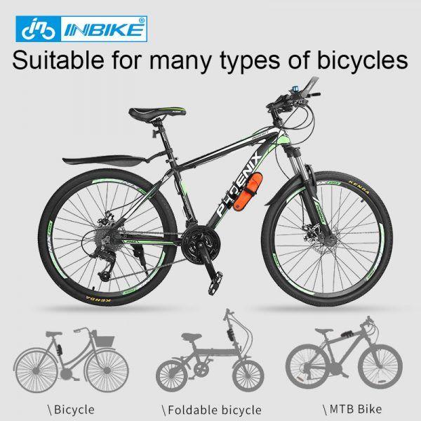 Candado de cadena de bicicleta INBIKE con cerradura plegable, bloqueo de bicicleta