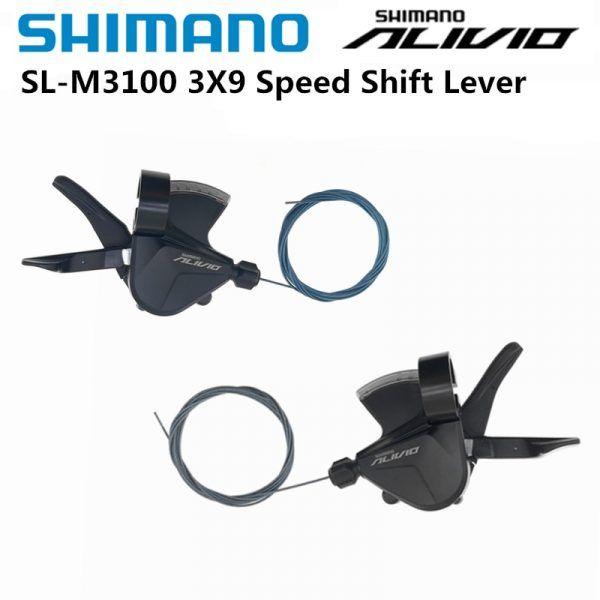 Palanca de cambios Shimano M3100 RAPIDFIRE PLUS para bicicleta de montaña, 2x9 3x9 velocidades