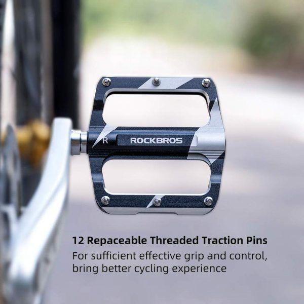 Pedales de bicicleta ROCKBROS para ciclismo de montaña ultraligeros de rodamiento sellados