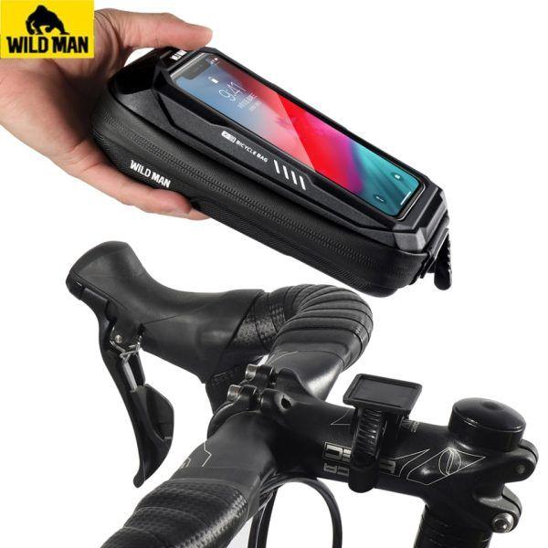 Nuevo soporte para teléfono móvil para bicicleta, funda impermeable de 6,9 pulgadas
