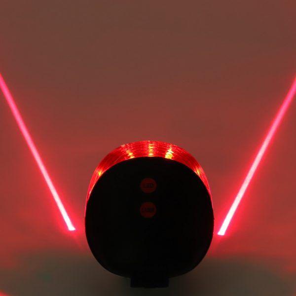 Luces traseras impermeables para bicicleta, Láser LED de seguridad de advertencia, accesorios para bicicleta
