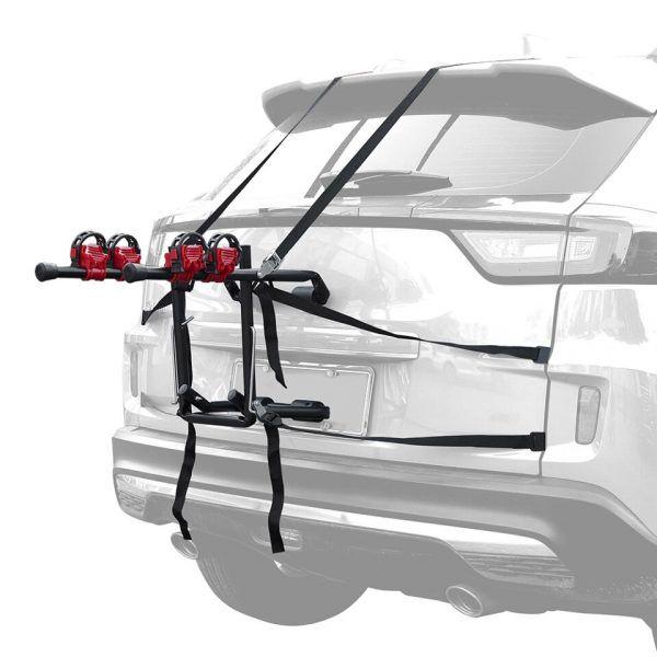 Soporte de montaje en el maletero del automóvil para 2 bicicletas de Instalación rápida