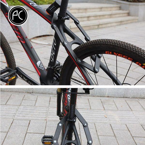 Bloqueo de bicicleta con clave PCycling, bloqueo plegable aleación de acero