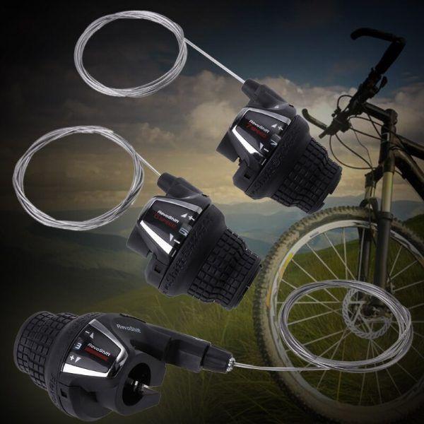 Empuñaduras de giro para bicicleta, cambio de marchas derecho e izquierdo