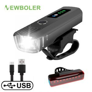 Luz LED delantera NEWBOLER de bicicleta recargable USB 250-350 lumen