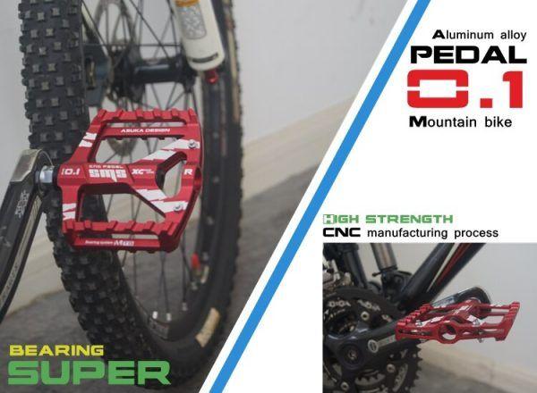 Pedales de bicicleta de carretera de aleación de aluminio de aviación ultraligeros MTB BMX DU