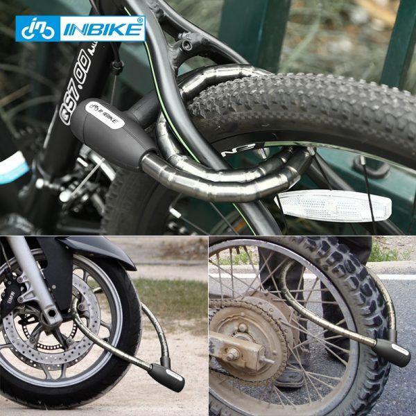 Candado de bicicleta INBIKE candado de cable antirrobo 0,85 m impermeable
