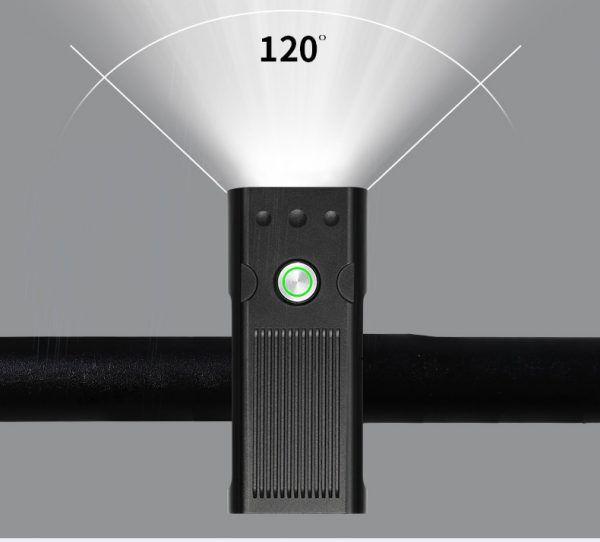 Luz LED para bicicleta TRLIFE, 5200mAh, 3 * L2/T6, recargable vía USB, IPX5, resistente al agua