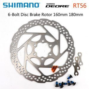 Rotor de disco de freno Shimano Alivio Deore SM-RT56 para bicicleta de montaña, 6 tornillos, 160mm, 180mm, M6000