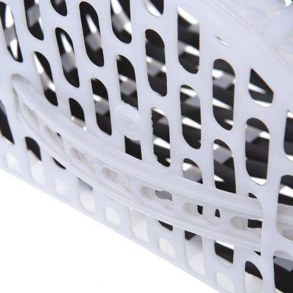 Cesta de plástico para bicicleta de niñas con lazo de adorno. Adaptable a scooter