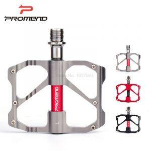 Pedales planos para MTB Promend antideslizante ultraligeros de aleación de aluminio con 3 rodamientos