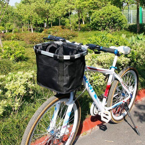 Cesta porta equipaje para manillar de bicicleta, soporte recomendado de 3 KG de carga