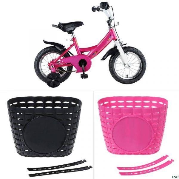 Cesta hueca para manillar delantero de bicicleta para niños
