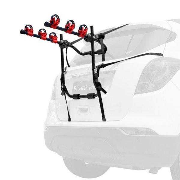 Soporte de montaje en el maletero del automóvil para 3 bicicletas de Instalación rápida