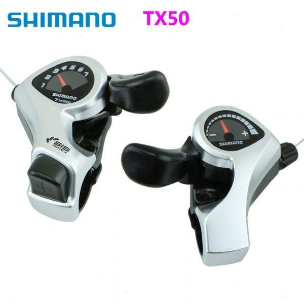 Palancas de cambio para pulgar Shimano SL-TX50 3x6 3x7 para ciclismo MTB