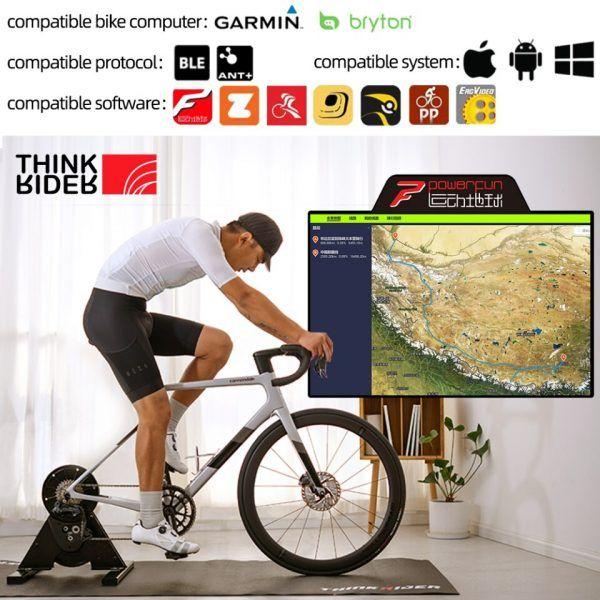 Rodillo de entrenamiento en bicicleta Thinkrider para conducción directa A1