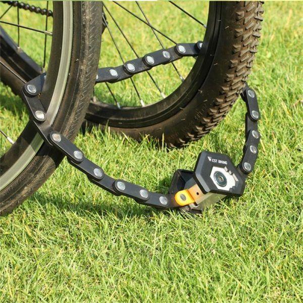 Candado de cadena para bicicleta WEST BIKING antirrobo de alta seguridad