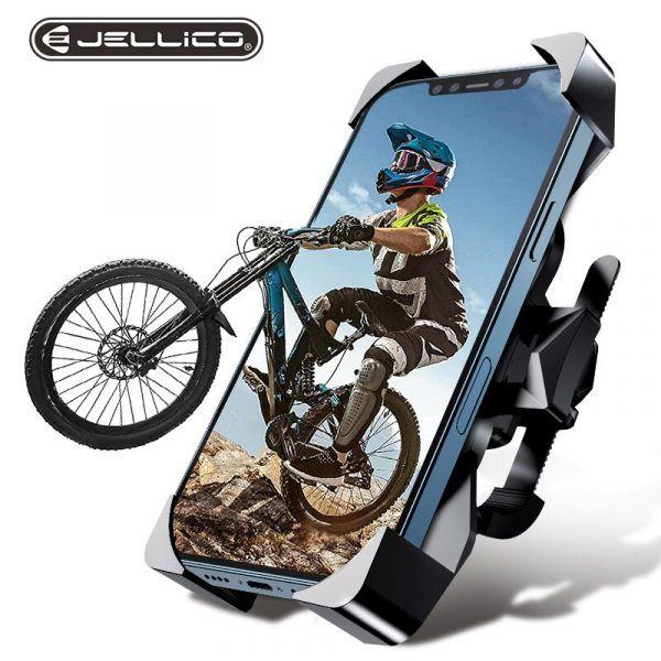 Soporte para teléfono de bicicleta Jellico, soporte ajustable, antivibración