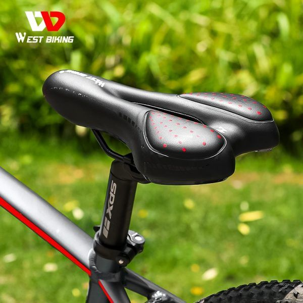 Asiento de bicicleta WEST BIKING sillín de bicicleta a prueba de golpes